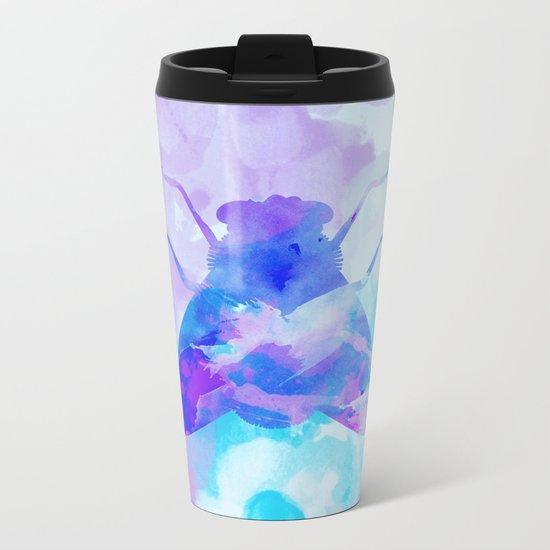 Abstract Fly Metal Travel Mug
