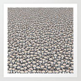 Reddit army Art Print