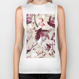 Magnolia cherry blossum Biker Tank