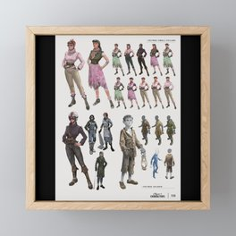 Fallout Video Game Cover Gaming Framed Mini Art Print