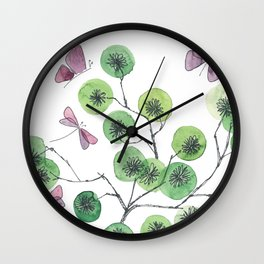 a touch of summer fragrance - white background Wall Clock