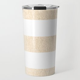 Simply Stripes in White Gold Sands Travel Mug