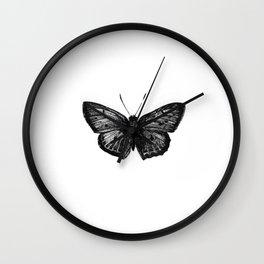 Minimalista borboleta 1 Wall Clock
