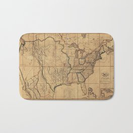 Map of the United States by John Melish (1818) 3rd State Bath Mat