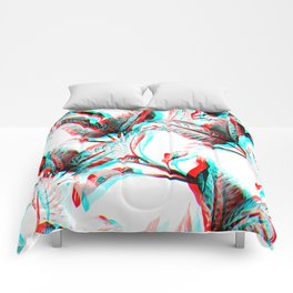 palm tree leaves pattern Comforters