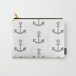 Anchors - white with gray Carry-All Pouch
