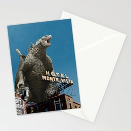 Gojira Visits Heart of America Stationery Cards