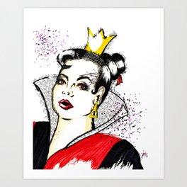 Wonderland Queen of Hearts Art Print