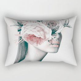 WOMAN WITH FLOWERS 11 Rectangular Pillow