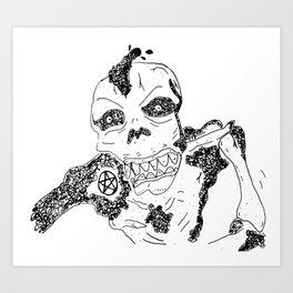 Skvll Face Art Print