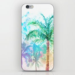 Neon Palm Trees iPhone Skin