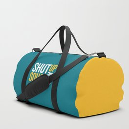 Shut Up And Squat Gym Quote Duffle Bag