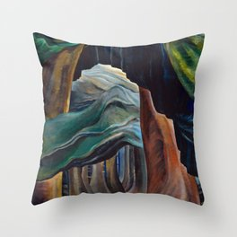 Emily Carr - Forest, British Columbia - Canada, Canadian Oil Painting - Group of Seven Throw Pillow