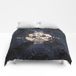 Compass World Star Map Comforters