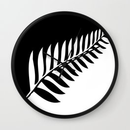 Silver Fern of New Zealand Wall Clock