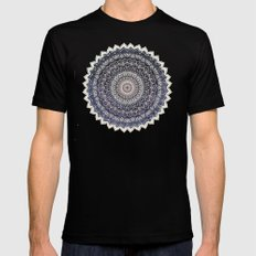 WARM WINTER MANDALA Mens Fitted Tee MEDIUM Black