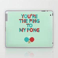 Love is like ping pong Laptop & iPad Skin