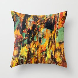 Untitled Abstract - Taunting Jester Throw Pillow
