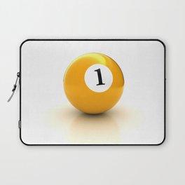 yellow pool billiard ball number 1 one Laptop Sleeve