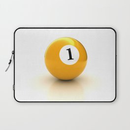 yellow pool billiard ball number 1 one Laptop Sleeve