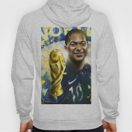 KYLIAN MBAPPÉ PSG football player, world cup champion, best young french football player star portra Hoody