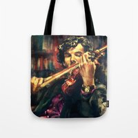 android Tote Bags featuring Virtuoso by Alice X. Zhang