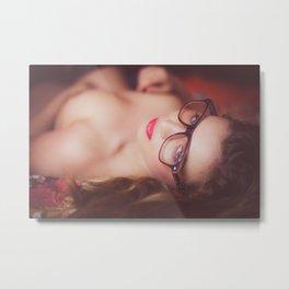 Naked woman looking at you Metal Print