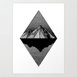 Silent Lake Art Print