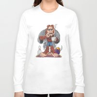 lebowski Long Sleeve T-shirts featuring Bigfoot Lebowski by Eli Wolff