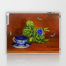Teacup with Artichokes Laptop & iPad Skin