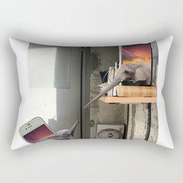 Baby Elephant Falling Off A Shelf Rectangular Pillow