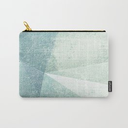 Frozen Geometry - Teal & Turquoise Carry-All Pouch