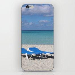 Deck Chairs on Beach iPhone Skin