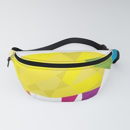 Elephant in polygon style vector Fanny Pack