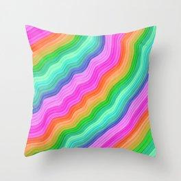 Wiggle Stripes Throw Pillow