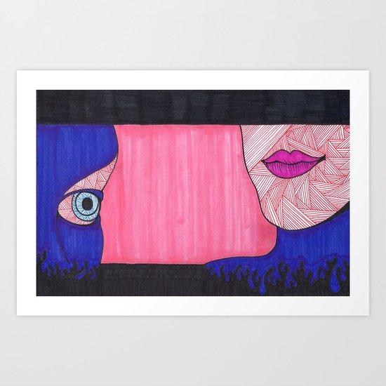 Para Ver Los Labios Art Print