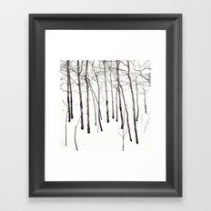 Walk in the White Lightning Wonderland of Winter Framed Art Print