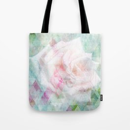 Triangle Rose Tote Bag