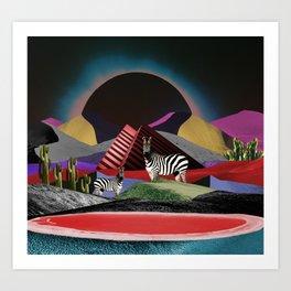 The lost desert Art Print