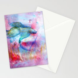 Iridescent Abstract Betta Stationery Cards