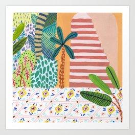 Jungle Staircase Art Print