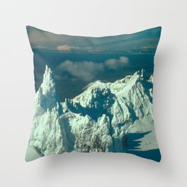 Snow Covered Swiss Alps Throw Pillow