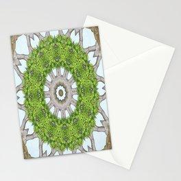 Bark Leaves Stone Kaleidoscope Art 6 Stationery Cards