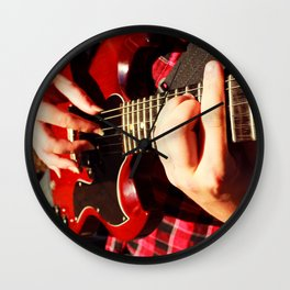 Guitar picking Wall Clock