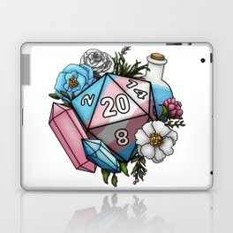 Pride Transgender D20 Tabletop RPG Gaming Dice Laptop & iPad Skin