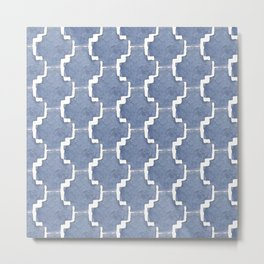 Chambray Pattern Metal Print