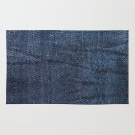 Navy blue jeans cloth textur pattern Rug