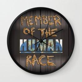 Human Race Wall Clock