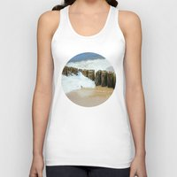 wooden Tank Tops featuring Wooden Breakwater by Pati Designs & Photography