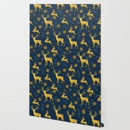 Golden Reindeer Wallpaper